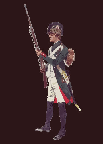 2 º Batallón de Infantería de la Luz, privado de 1791