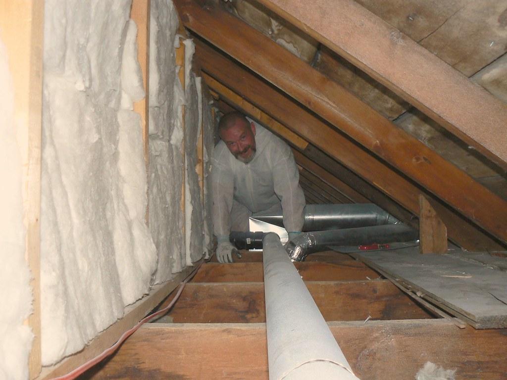 Behind the attic kneewall...