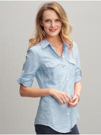 BR Chambray Button Up XSP