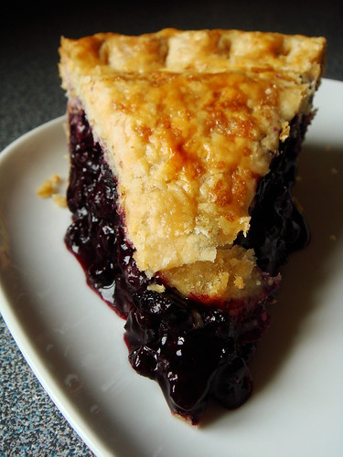 Perfect Slice Of Wild Blueberry Pie