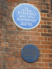 Photo of Arthur Pinero blue plaque