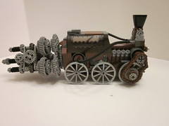Steampunk Tunnel Bore (Kungfucrab) Tags: mine lego mining drill steampunk tunnelbore legosteampunk legosteampunktunnelbore