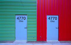 Day 198/365 - Two Doors (Great Beyond) Tags: door blue ohio red color building green slr film analog 35mm project eos colorful industrial doors image kodak iso400 july ishootfilm georgetown warehouse 35mmfilm 400 belltown 365 tamron 3000v canonrebelti latent c41 28200mm portra400 2011 duwamish kodakportra400 keepcalm project365 bluedoors canoneosrebelk2 filmisnotdead canonrebelk2 latentimage tamronaf28200mm 4770 july2011 tamronasphericalaf28200mm 4770ohio
