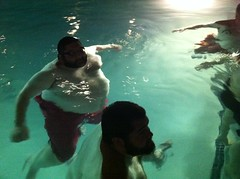 Big men's pool party (Mr Pibearian) Tags: bear pool swimming chub superchub chubbybear