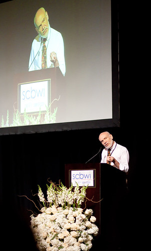 Bruce Coville's opening keynote (photo by Rita Crayon Huang)