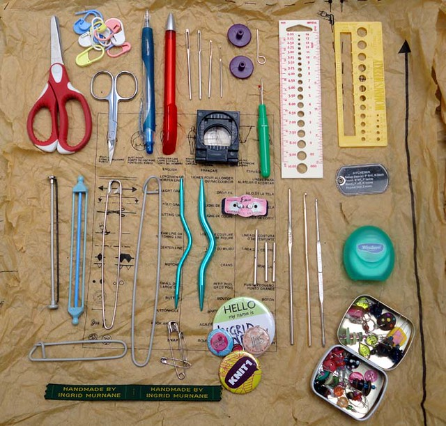 The Knit Kit Bag's Contents