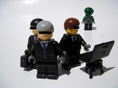 The Employers (TripleNegative) Tags: life boss 2 computer lego laptop alien gang suit half agent minifigure faction employers triplenegative benifactors