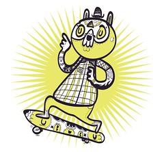 GoSkate! (Daniel Avils) Tags: street detail illustration mexico design character skate vector madhorse5 daviles
