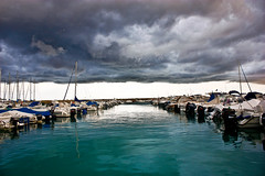 Boats (Nicol Brivio) Tags: blue light sea italy seascape storm beach canon landscape boats photography fantastic perfect natural top best tone lightroom nicol brivio