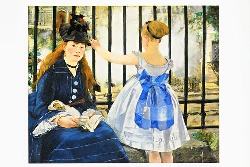 ★ポストカード①マネ「鉄道」1873年 by Poran111