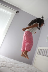 one little monkey jumping on the bed...