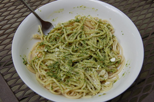 roasted garlic and sunflower pesto