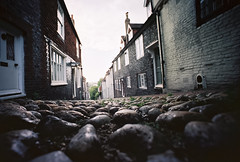 low down in lewes (lomokev) Tags: street houses england english town lomo kodak stones low wide kodakportra400vc ground wideangle groundlevel portra lewes lomograph lcw kodakportra400 ratseyeview kodakportra lcwide lomolcw lomolcwide roll:name=110823lomolcwvc file:name=110823lomolcwvc04