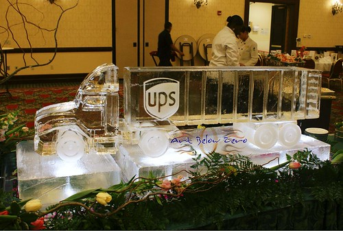 UPS Feeder Truck 3D ice sculpture