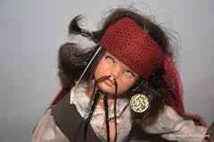 Creating Sindy as Jack Sparrow (Blackberry Pie Designs) Tags: jack ooak sparrow sindy