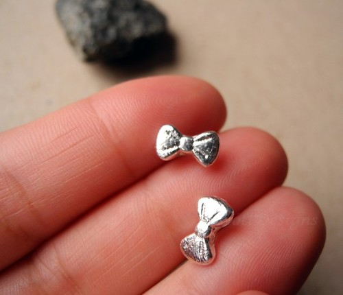 Bow Tie Earring Studs Ribbon