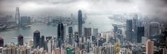The bay (FX-1988) Tags: china panorama fog river bay skyscrapers hong kong hdr the