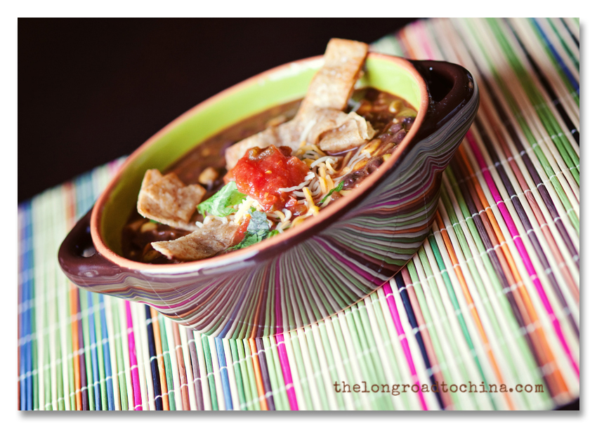 Black Bean Soup Reflective Stripes BLOG