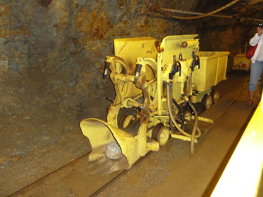 Shovelling machine on Britannia Mine tour