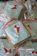 Let's Go Fly A Kite.......! (Three Honeybees) Tags: red white kite square aqua cookie gingerbread royal sugar icing cutter fondant threehoneybees