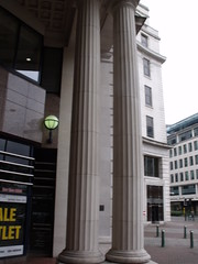 Columns near the Minories - Old Square (ell brown) Tags: greatbritain england leaves bar birmingham unitedkingdom columns un wreath departmentstore column westmidlands glazed unflag olivebranches lewiss oldsquare theminories thesquarepeg corporationst josephchamberlain bullst theprioryqueensway peterhingjones geralddecourcyfraser geralddecourcyfraserofliverpool carefullyproportionedclassicalblock fluteddoriccolumns impressivespatialeffect entrancebridges pairedcolumnsandlintels deepnarrowcanyon conversiontoofficesandcourts tactfulextrastorey