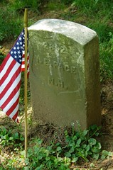 Headstone of Civil War Veteran Ira E. Page, Antietam National Cemetery, Sharpsburg, MD. (goldenanchor) Tags: civilwarveteran sharpsburgmd antietamnationalcemetery iraepage 12thnewhampshirevolunteerinfantry