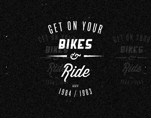 ride bike logo black