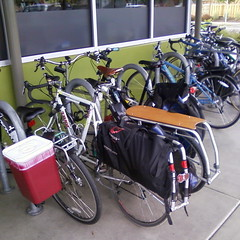 Two xtracycles at the Seven Corners New Seasons