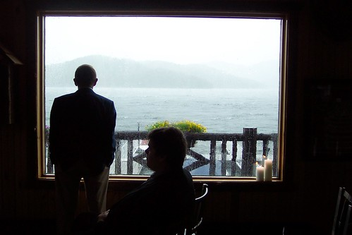 Lake Placid Wedding Guests As Hurricane Irene Approaches by arthennessey