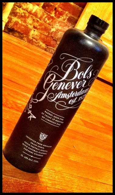 Barrel Aged Bols Genever bottle, signed by Master Distiller Piet Van Leijenhorst