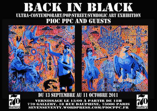 Back in black exhibition by Pegasus & Co