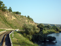 Part of the railway between Brinza - Valeni (VitalyMSK) Tags: railway part din calea between chisinau moldova дорога железная cahul valeni basarabeasca brinza молдовы ferată giurgiulesti