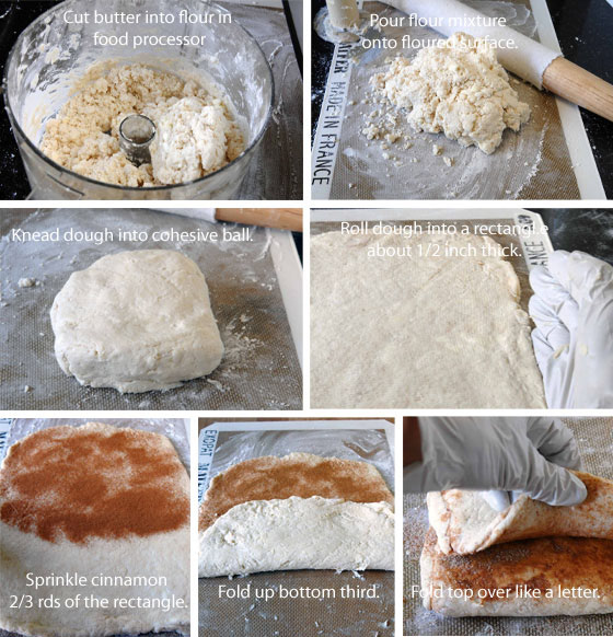 pictures show how to make flaky biscuits