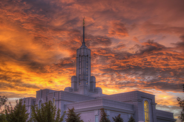 Getting Darker at Mt Timpanogos Temple -HDR