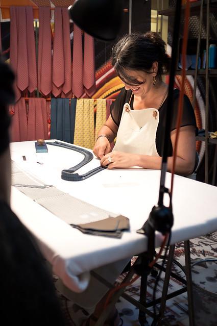 Making ties from silk twills