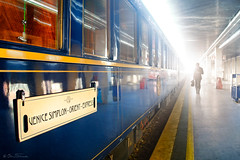 Venice Simplon - Orient Express (Ben Heine) Tags: travel windows light italy man reflection art history silhouette train wagon photography vanishingpoint europe carriage gare russia walk transport railway legendary business trainstation transportation future photoediting histoire timetravel past discovery venise fentre luxury lux italie myth orientexpress dcouverte surexposition exotism benheine venicesimplon aboveandbeyondlevel1