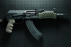 Mini Draco AK-47 Gun Prn (fpsurgeon) Tags: freedom gun shoot weapon pistol defense machinegun surplus romanian ak47 firearm punisher offense tactical secondamendment ak74 assaultrifle gunporn assaultweapon smallarms 762x39mm cugir strobist muzzlebrake gunpron romarm  hoguegrip highcapacitymagazine minidraco gunprn northfloridazombieresponseteam nfzrt centuryarmsinternational