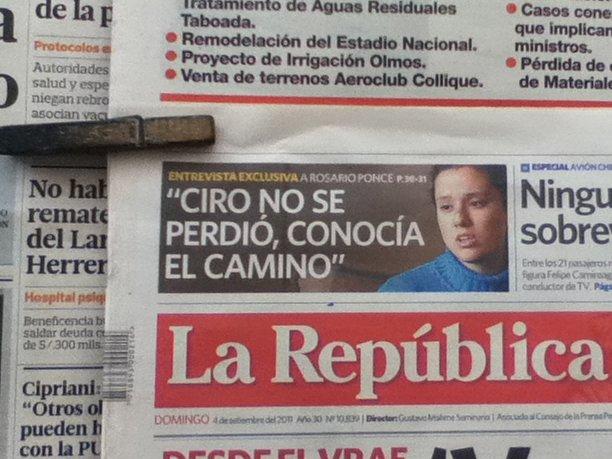 La Republica frontpage