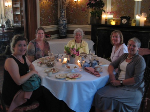 Polishing off High Tea at Lady Mendel's