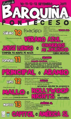 Ponteceso 2011 - Festas da Barquiña - cartel