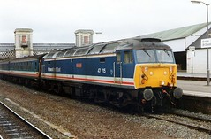 47715 Exeter St Davids  02.11.91 (jonf45 - 3 million views-Thank you) Tags: st br diesel south 4 rail trains brush class exeter type british locomotive network eastern railways 47 davids nse 47715