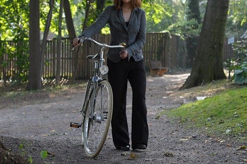 Linen Suit + Bike