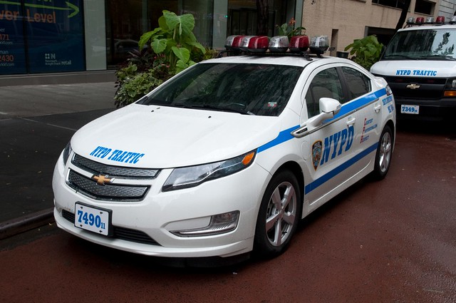 usa newyork manhattan nypd midtown policecar garmentdistrict newyorkpolicedepartment chevyvolt