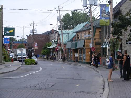 Downtown village street