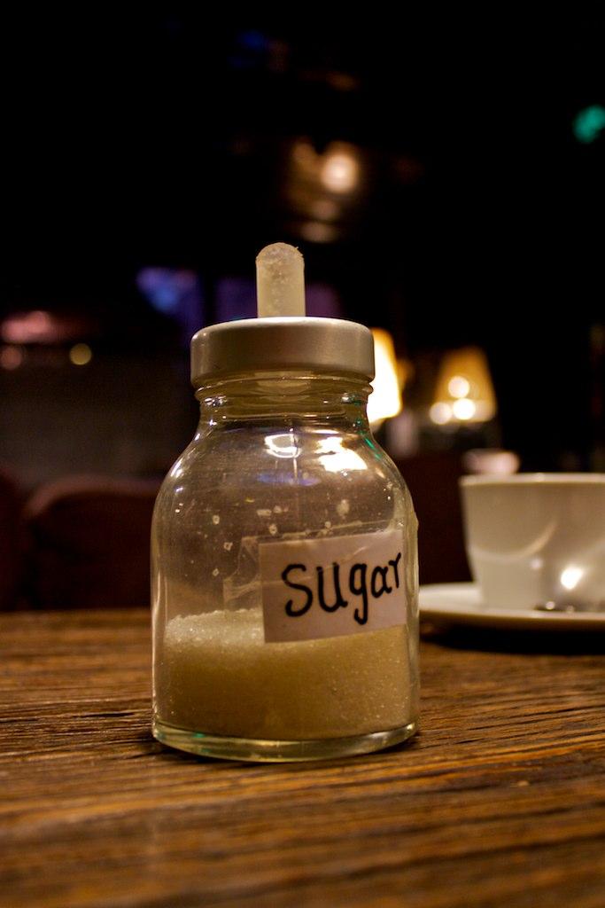 Sugar. If it ain't got sugar in it, I ain't drinking it.