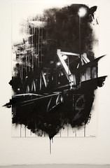 The Bridge, 2011, 170cm x 110cm, spray can & acrylic on Mdf (hand cut stencils)
