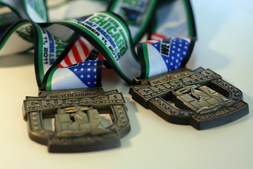 The 15th Annual Chicago Half Marathon Medals