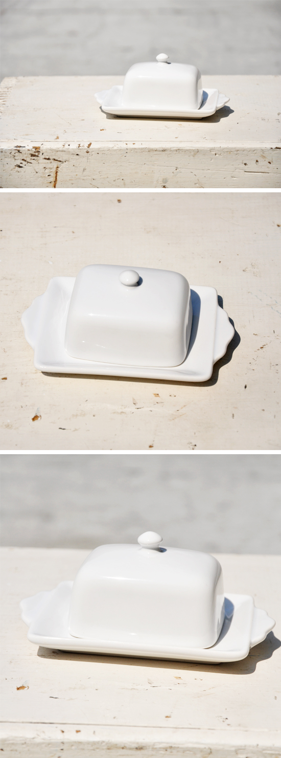 Tea & Toast Butter Dish on Over The Moon Vintage Rentals