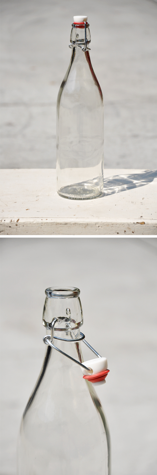 Glass Bottle with Stopper by Over The Moon Vintage Rentals