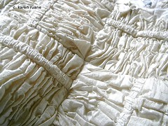 ruching (contemporary embroidery) Tags: silk pleating ruching